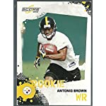 c5df272f5ea 2010 Score Football  307 Antonio Brown Rookie Card Pittsburgh Steelers