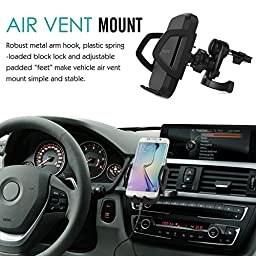 MoKo Car Wireless Charger, 3-Coil Charging Cradle, Air Vent Dashboard Car Mount Holder for All Qi Enabled Smartphone Samsung Galaxy S8 / S7 / S7 Edge / S6 / S6 Edge, LG G2, Google Nexus 6