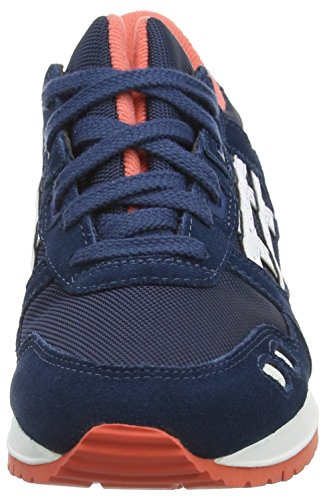 Adulte Mixte Bleu Blanco zapatillas Basses III Mixte Adulte Gel 5801 Lyte Poseidon e787db
