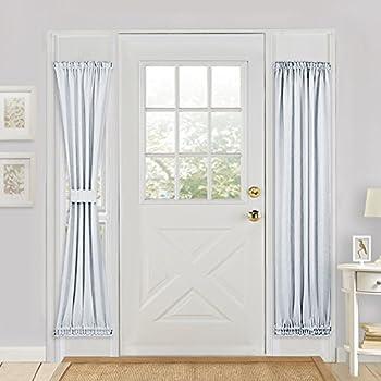 Sliding Glass Door Curtain Panel   PONY DANCE Heavy Duty Solid Rod Pocket  Blackout Window