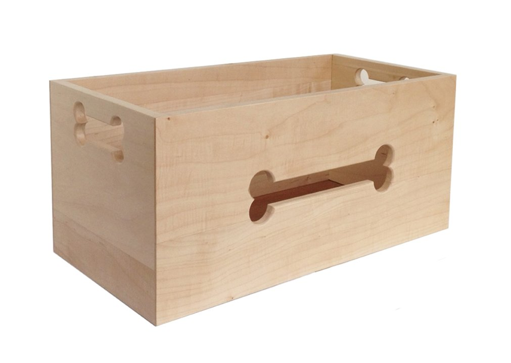 Hardwood Pet Toy Box - 21'' L x 10.5'' W x 10'' Ht.