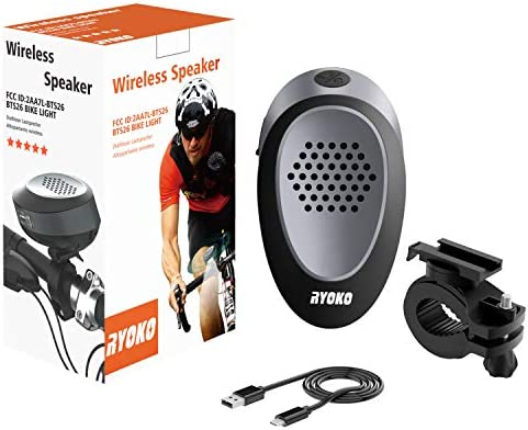 Bike Light Bluetooth Speaker, Wireless Bike Speaker with Loud Sound & Rich Bass, Bluetooth V4.1+EDR and LED Torch Light, IPX4 Waterproof Portable Outdoor Speakers with Mount for Bicycle Riding. 512Jf5NgUqL