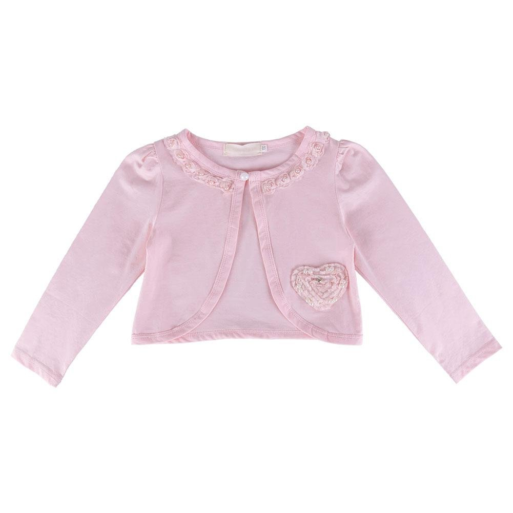 Girl Floral Pearl Cardigan Baby Kid Shawl Top Clothes ZHUOTOP