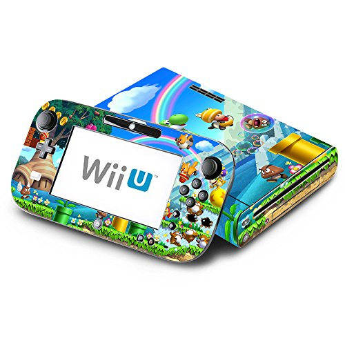 New Super Mario Bros. U Decorative Decal Cover Skin for Nintendo Wii U Console and GamePad