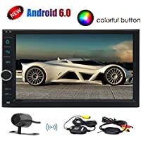 Quad-Core Eincar 7inch Stereo Universal 2 DIN Android 6.0 Marshmallow Car Stereo GPS Navigation Radio Receiver Bluetooth Head Unit Phone Mirroring Car Player Support Wireless CAM-IN Remote Control USB