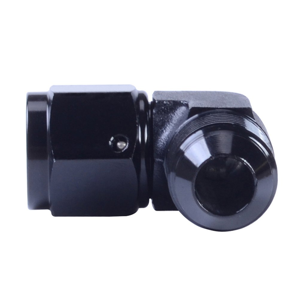ESPEEDER 10AN Aluminum Anodize Finish Male//Female 90 Degree Flare Bulkhead Fitting Adapter AN-10 Black