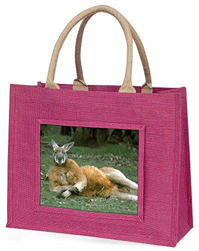 Advanta Cheeky Känguru Große Einkaufstasche/Weihnachtsgeschenk, Jute, pink, 42x 34,5x 2cm