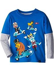 Paul Frank 大嘴猴 男童 长袖 双层 T恤 蓝色 $14.25 Boys Group Ride Mock