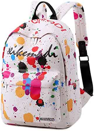 School Backpack for Girls Water Resistant Cute Bookbag Outdoor Daypack  Travel Laptop Backpack (White) 3e236d724a0cb