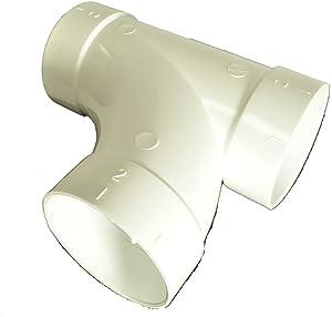 Central Vacuum PVC 2 Inch Coupling Elbow 90 Degree Tee Wye BI-9081