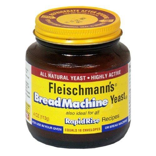 Fleischmann's Yeast for Bread Machines, 4-Ounce Jars (Pack of 3) by Fleishmanns