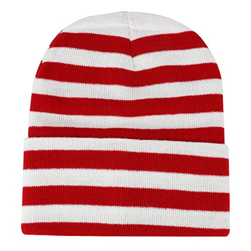 (Armycrew Red White Stripe Long Cuff Beanie - 1PK)