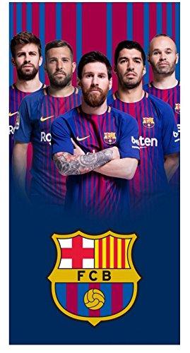 FCB Barcelona Football Club - Toalla de Playa (Tamaño Grande, 70 x 140 cm, 100% Algodón), Diseño de Jugadores de Barcelona: Amazon.es: Hogar