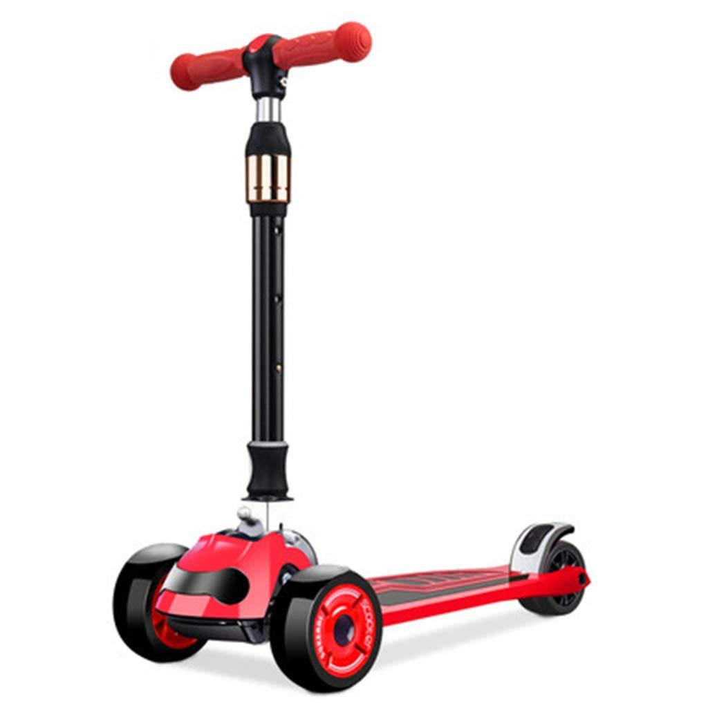 PUで操縦するスクーターは軽い調節可能なハンドル4の車輪の子供の活動屋外の娯楽軽量の構造運ぶこと容易 B07QXHPLCP A A