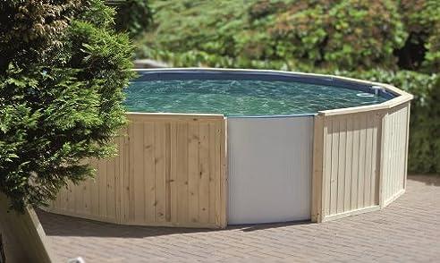 Stahlwandpool verkleiden  Holzumrandung für Stahlwandbecken 3,00m x 1,20m: Amazon.de: Garten