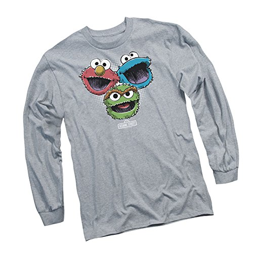 Halftone Heads -- Sesame Street Adult Long-Sleeve T-Shirt, X-Large