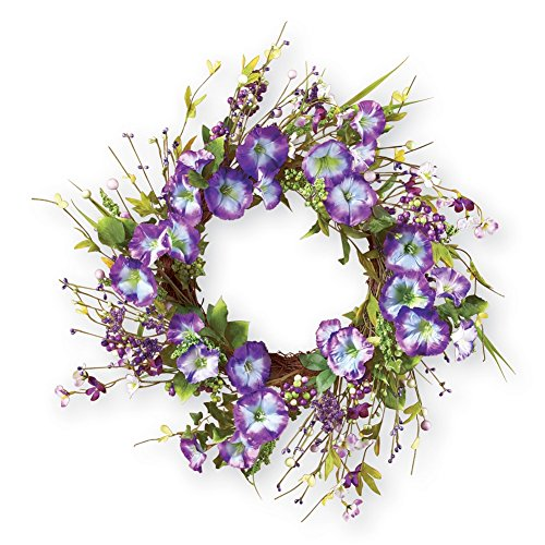 Purple Morning Berries Wreath Polyester