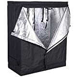 Giantex Indoor Grow Tent Room Reflective Mylar Hydroponic Non Toxic Clone Hut 6 Size (48''X24''X60'')