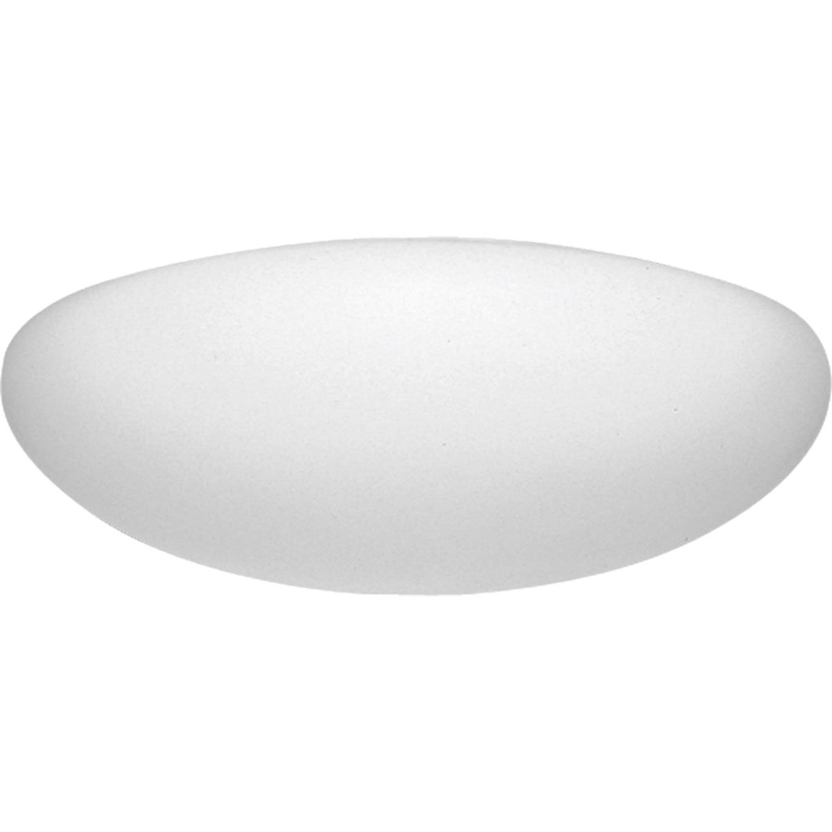 Progress Lighting P7307-60 White Contoured Acrylic Clouds Float Off The Ceiling Regressed White Chassis Wall Or Ceiling Mount with Standard 120 Volt Normal Power Factor Ballasts, White