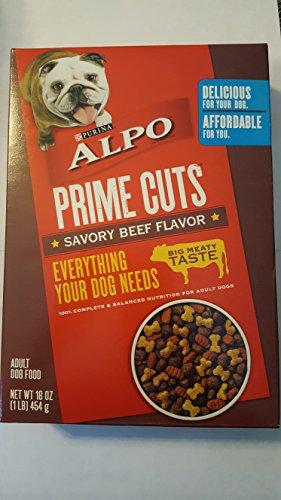 Purina ALPO Prime Cuts Savory Beef 16oz box Alpo Prime Cuts Beef