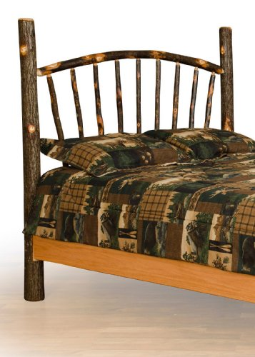 (Furniture Barn USA Rustic Hickory Sunburst Bed - Headboard Only - Queen Size- Amish Made)
