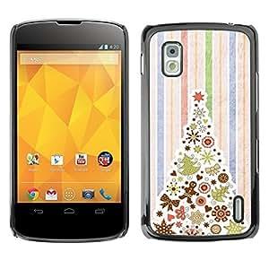 YOYO Slim PC / Aluminium Case Cover Armor Shell Portection //Christmas Holiday Holiday Tree 1148 //LG Google Nexus 4