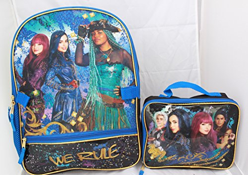 Disney Descendants 2 Girls Bookbag School Backpack Lunch Box SET