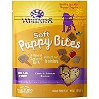 Wellness Soft Puppy Bites Golosinas naturales para el entrenamiento de cachorros, granadas, cordero y salmón, bolsa de 3 onzas