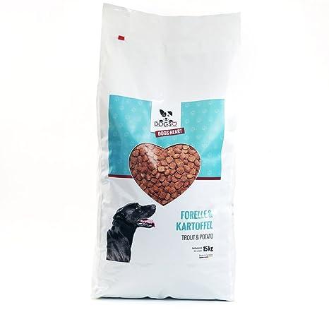 Dogs-Heart Trucha y patatas, pienso para perro hipoalergénico sin cereales,