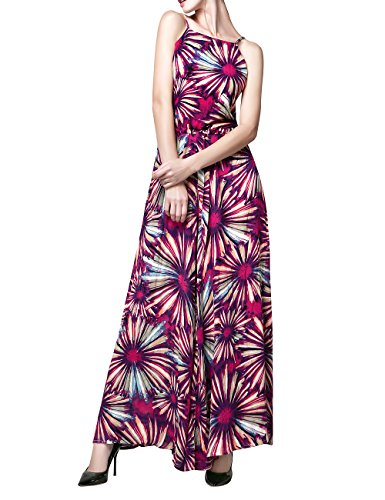 AZOT Floral Jumpsuits for Women Tall Maxi Jumpsuit Romper Off Shoulder Summer Pants