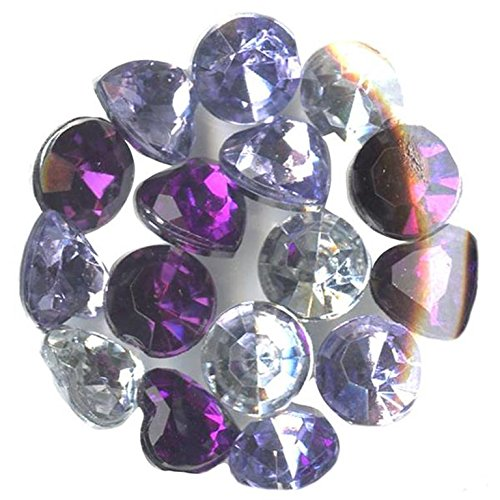 Blue Moon Beads Story Lockets Acrylic Charm, Amethyst, Assortment