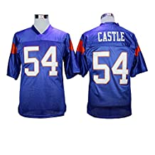 54 THAD CASTLE Blue Mountain State Movie Mens Football Jersey Stiched Blue M