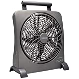 """O2COOl 10"""" Battery Operated Fan - Portable with AC Adapter & USB Charging"""