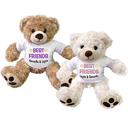 Set of 2 Personalized Best Friends Teddy Bears