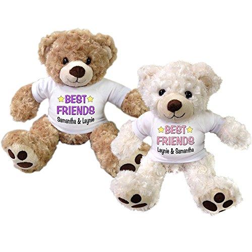 Set of 2 Personalized Best Friends Teddy Bears (Best Friend Teddy Bear Gift)