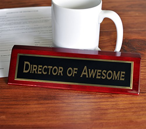 Director of Awesome Desk Plate | 2 x 8 Desk Plate