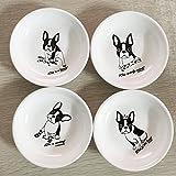 French Bull Dog Bully small plate saucer Pet 4 designs bone rabbit socks crown