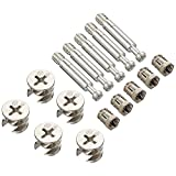Flyshop Furniture Cabinet Connector #261 Cam Lock Fittings 6.5mm Dia 36.5mm Length Dowels Alloy Nuts 10 Sets
