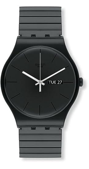 Swatch Reloj Digital de Cuarzo para Hombre con Correa de Plástico - SUOB708B: Amazon.es: Relojes