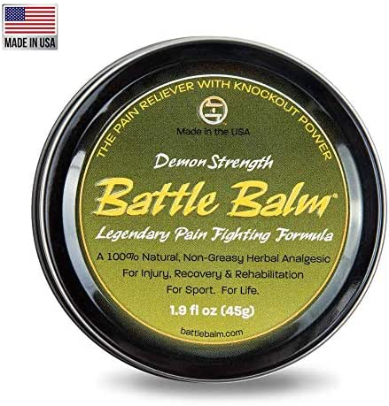 Demon Strength Pain Relief Cream (1.9-Ounce) - Battle Balm | All-Natural and Organic Topical Analgesic for Arthritis, Muscle Soreness, Sprains, Strains, Bruises and More. Professionally Approved.