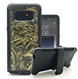 Galaxy Note 8 Case, Harsel Heavy Duty Tree Camouflage High Impact Shock Resistant Rugged Dirt Proof Military Durable Protective Case Cover with Belt Clip Kickstand for Galaxy Note 8 (Wheat Black)