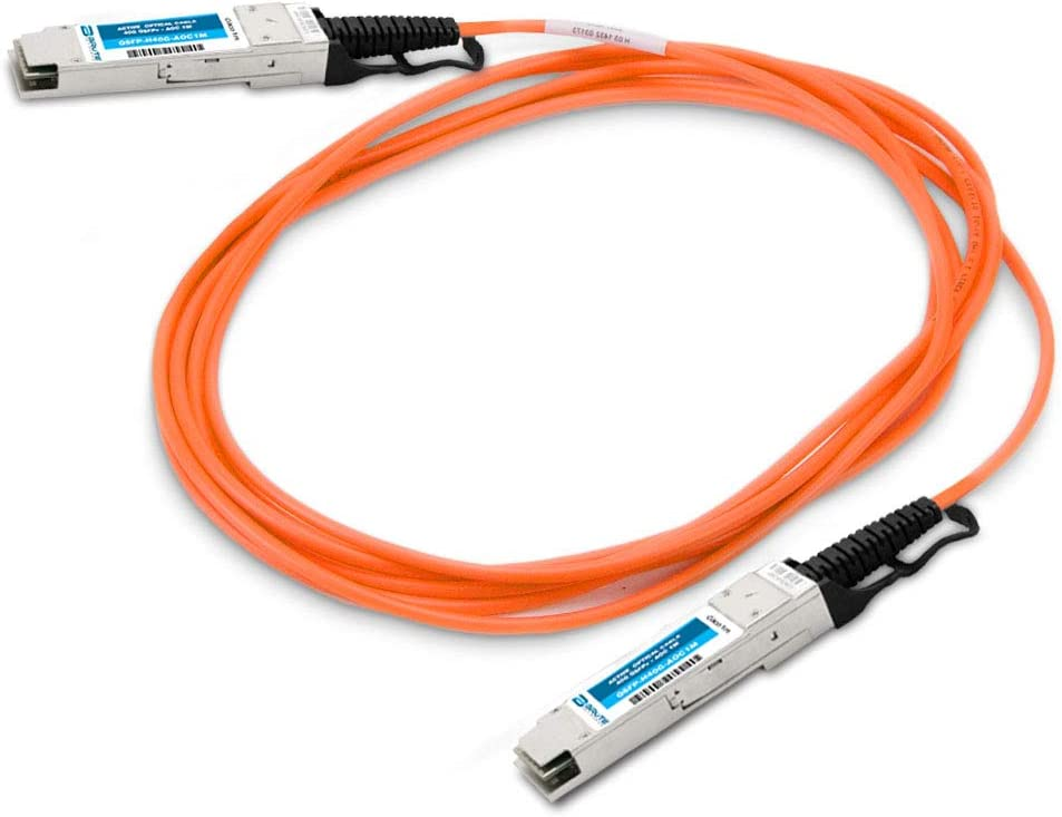 Compatible with OEM PN# CBL-QSFP-40GE-2M to QSFP Active Optical Cable 2m QSFP Brute Networks CBL-QSFP-40GE-2M-BN