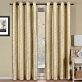 Geneva Multi-layer Ivory Grommet Blackout Window Curtain Panel, Lined-Stripe Pattern, 52×108 inches, by Royal Hotel Review
