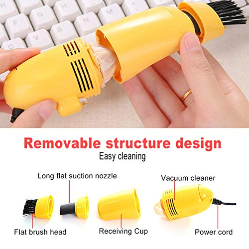 Mini Vacuum Cleaner for USB Keyboard,Brush Cleaning Tool Dust Cleaner for PC Laptop Computer