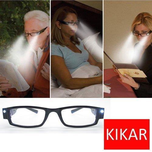 KIKAR LED Reading Glasses (Strength +1.5) with Case