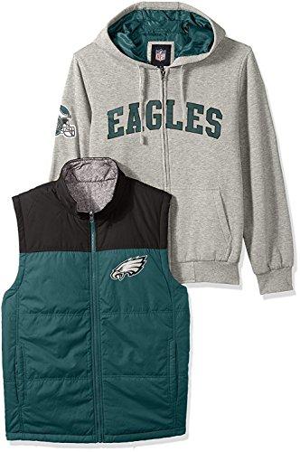G-III Sports Philadelphia Eagles 5-in-1 Reversible Vest Fleece Full Zip (1 Womens Fleece Vest)