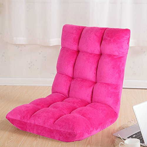 Do4U Home Adjustable Folding Lazy Sofa Six-Position Relax Floor Chair & Gaming Chair -Floor Cushion Multiangle Couch Beds for Watch TV/Gaming/ Midday Rest/Nap (Deep Pink)
