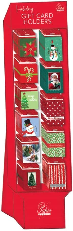 Assorted Colors Pack of 66 Expressive Design Cgc66fd-7 Christmas Gift Card Holder