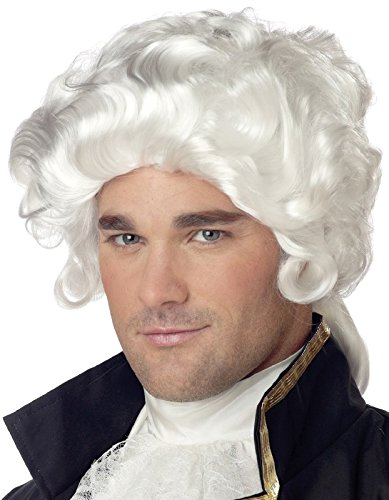 Deluxe Colonial Man Wig - One Size - Colonial Man Deluxe Costumes