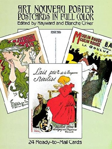 - Art Nouveau Poster Postcards in Full Color